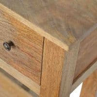 Carlos Oak 4-Drawer Console Table   Home Furniture